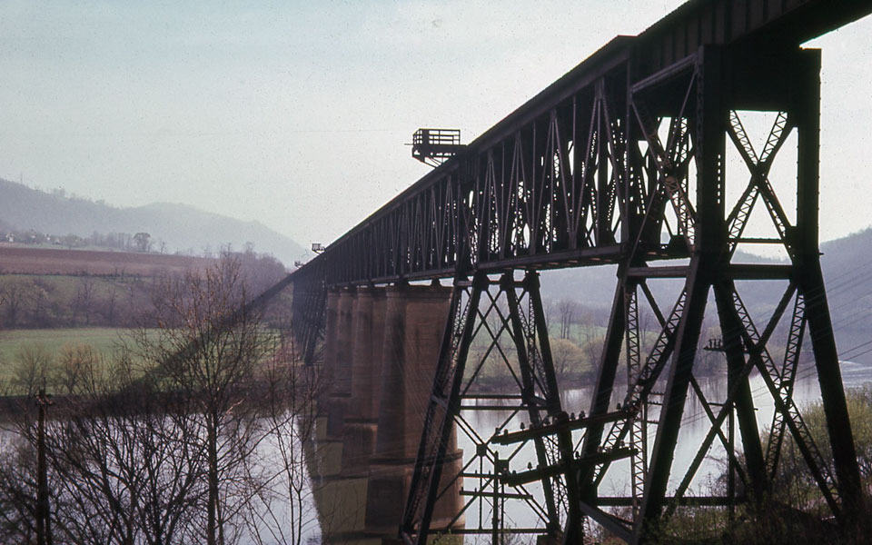 New River Bridge - Glen Lyn, Virginia - April, 1968