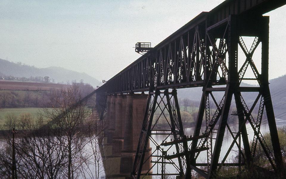New River Bridge - Glen Lyn, Virginia - April, 1968