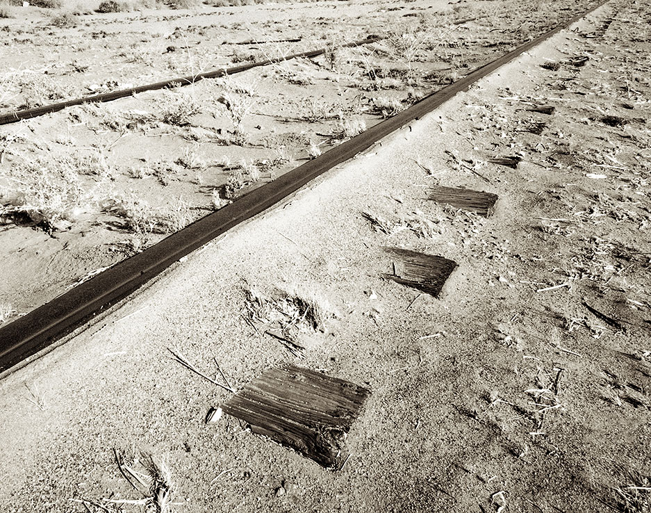 Tracks, ties, sand - Yuma, Arizona