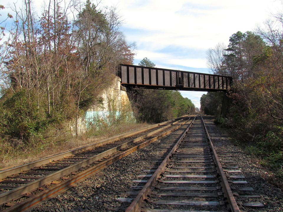 Cape May Branch flyover, abandoned in the late 1950's as shore traffic declined.
