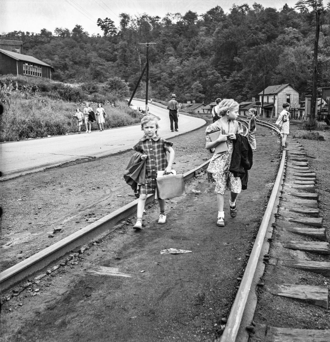 Coming home from school. Mining town, Osage, West Virginia - Marion Post Wolcott