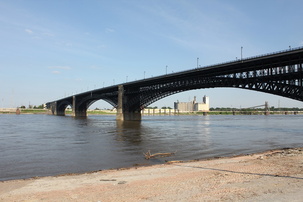 Overview - Eads Bridge, St. Louis, Missouri