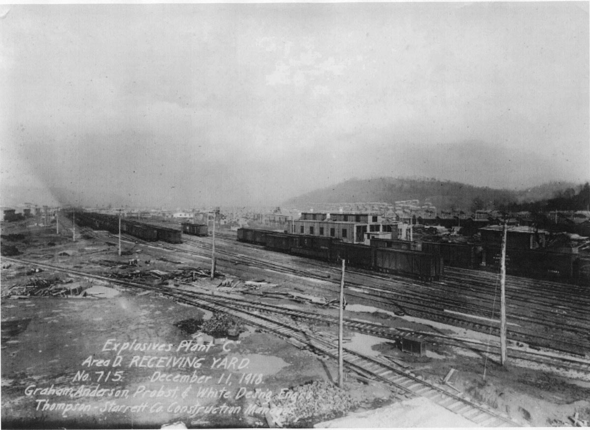 Receiving yard - Nitro West Virginia - 1918