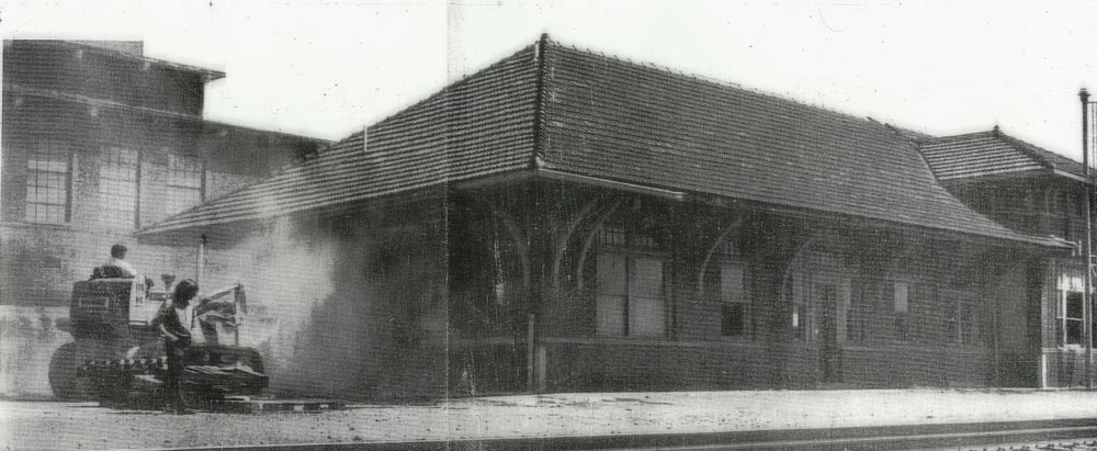 After 65 years of existence, the noble Concord passenger station faces its end. The date is March 28, 1978 and the structure will soon vanish beneath the bulldozer's tread. Image Concord Public Library/Independent Tribune
